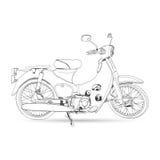 Bosquejo de la obra clásica de la motocicleta Imagen de archivo libre de regalías