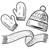 Bosquejo de la ropa del invierno