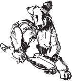Bosquejo de la tinta del perro ilustración del vector