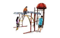 Bosquejo de la zona para los niños, vector del patio del ejemplo Fotografía de archivo
