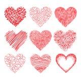 Bosquejo de los corazones Foto de archivo libre de regalías