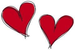 Bosquejo de los corazones Fotografía de archivo libre de regalías