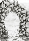 Bosquejo de piedra del arco Imagen de archivo