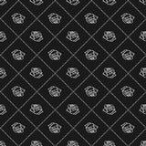 Bosquejo de Rose Modelo inconsútil Elementos del diseño floral Ilustración del vector Diseño elegante del esquema de la flor Símb Imágenes de archivo libres de regalías