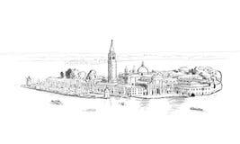 Bosquejo de San Jorge Imagen de archivo libre de regalías