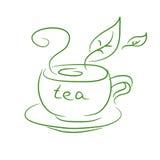 Bosquejo de una taza de té Imagenes de archivo
