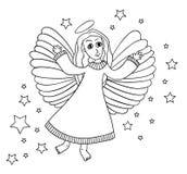 Bosquejo del ángel stock de ilustración