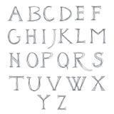 Bosquejo del alfabeto Foto de archivo libre de regalías
