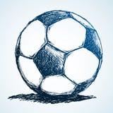 Bosquejo del balón de fútbol ilustración del vector