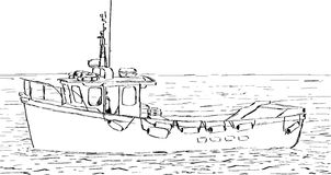 Bosquejo del barco Imagenes de archivo