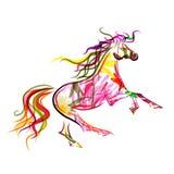 Bosquejo del caballo colorido para su diseño. Símbolo de Imagen de archivo