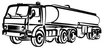 Bosquejo del camión de combustible fotografía de archivo