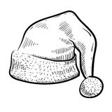 Bosquejo del casquillo de Santa Fotografía de archivo