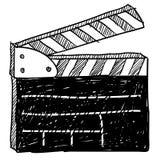 Bosquejo del clapperboard de la película Foto de archivo