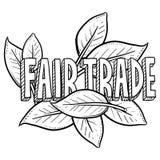 Bosquejo del comercio justo ilustración del vector