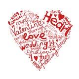 Bosquejo del corazón de la tarjeta del día de San Valentín para su diseño Imagenes de archivo