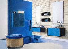 Bosquejo del cuarto de baño Fotografía de archivo