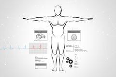 Bosquejo del cuerpo humano Imagen de archivo