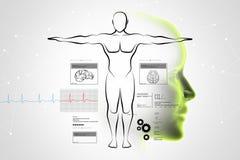 Bosquejo del cuerpo humano Imagenes de archivo