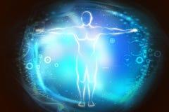 Bosquejo del cuerpo humano en luz Imagen de archivo libre de regalías