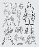 Bosquejo del deporte del boxeo Fotografía de archivo