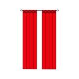 bosquejo del diseño interior de las cortinas Cortinas de ventana Imagen de archivo libre de regalías