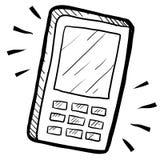 Bosquejo del dispositivo móvil o del smartphone stock de ilustración