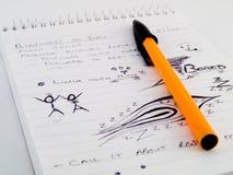 Bosquejo del Doodle alineado con los gráficos agujereados Foto de archivo libre de regalías
