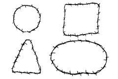 Bosquejo del drenaje de la mano del alambre de púas cuatro libre illustration