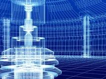 Bosquejo del edificio de la tecnología ilustración del vector