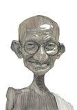 Bosquejo del ejemplo de Mahatma Gandhi stock de ilustración