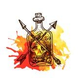 Bosquejo del elemento del tatuaje Imagen de archivo libre de regalías