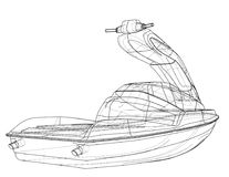 Bosquejo del esquí del jet Vector Imagen de archivo libre de regalías