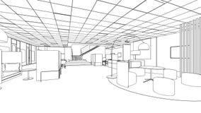 Bosquejo del esquema de un área interior de la despensa Fotos de archivo libres de regalías