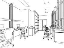 Bosquejo del esquema de un interior Fotografía de archivo