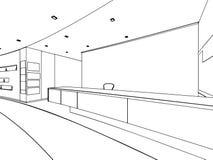 Bosquejo del esquema de un interior Foto de archivo