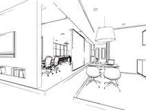 Bosquejo del esquema de un interior Imagen de archivo libre de regalías