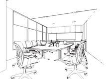 Bosquejo del esquema de un interior Imagenes de archivo