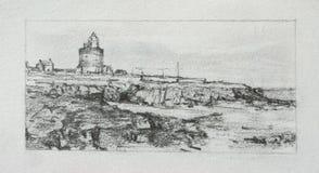 Bosquejo del faro del gancho de leva Imagen de archivo libre de regalías