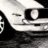 Bosquejo del frente del coche fotos de archivo