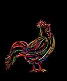 Bosquejo del gallo Imagenes de archivo