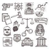 Bosquejo del icono de la ley libre illustration
