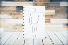 Bosquejo del individuo que camina Foto de archivo libre de regalías