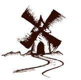 Bosquejo del molino viejo ilustración del vector