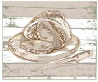 Bosquejo del pan y de los puntos Fotos de archivo