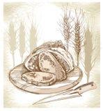 Bosquejo del pan y de los puntos Foto de archivo