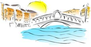 Bosquejo del puente de Rialto
