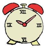 Bosquejo del reloj de alarma Fotos de archivo libres de regalías