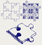 Bosquejo del rompecabezas ilustración del vector