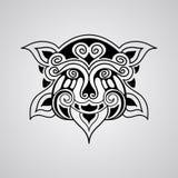 Bosquejo del tatuaje del león del vector Foto de archivo libre de regalías